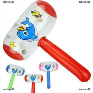 Cartoon Inflatable Hammer Air Hammer With Bell Kids Children Blow Up T