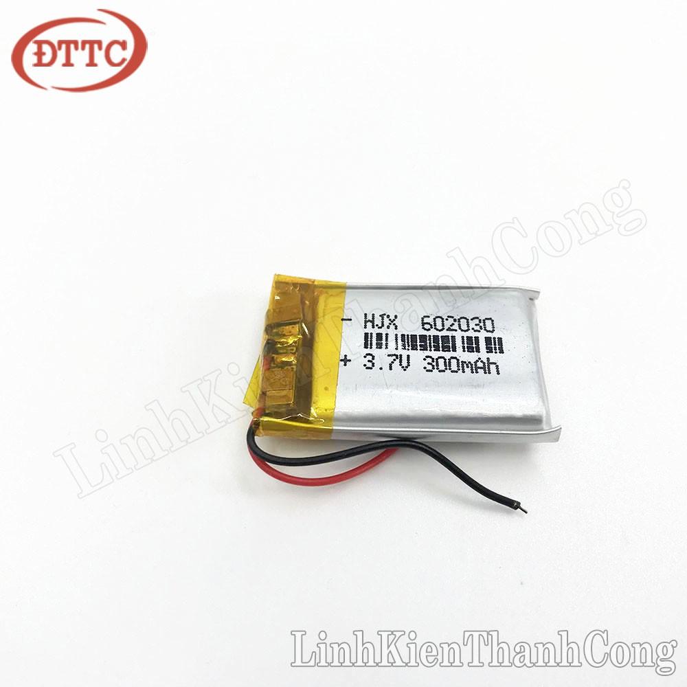 Pin Lipo Polymer 3.7V 300mAh 6x20x30mm (Có Mạch Bảo Vệ)