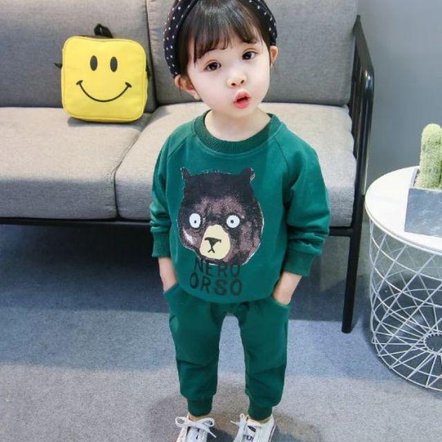 Bộ quần áo dài tay màu xanh lá cho bé trai và bé gái qate27 - 3232353 , 1271103031 , 322_1271103031 , 55000 , Bo-quan-ao-dai-tay-mau-xanh-la-cho-be-trai-va-be-gai-qate27-322_1271103031 , shopee.vn , Bộ quần áo dài tay màu xanh lá cho bé trai và bé gái qate27