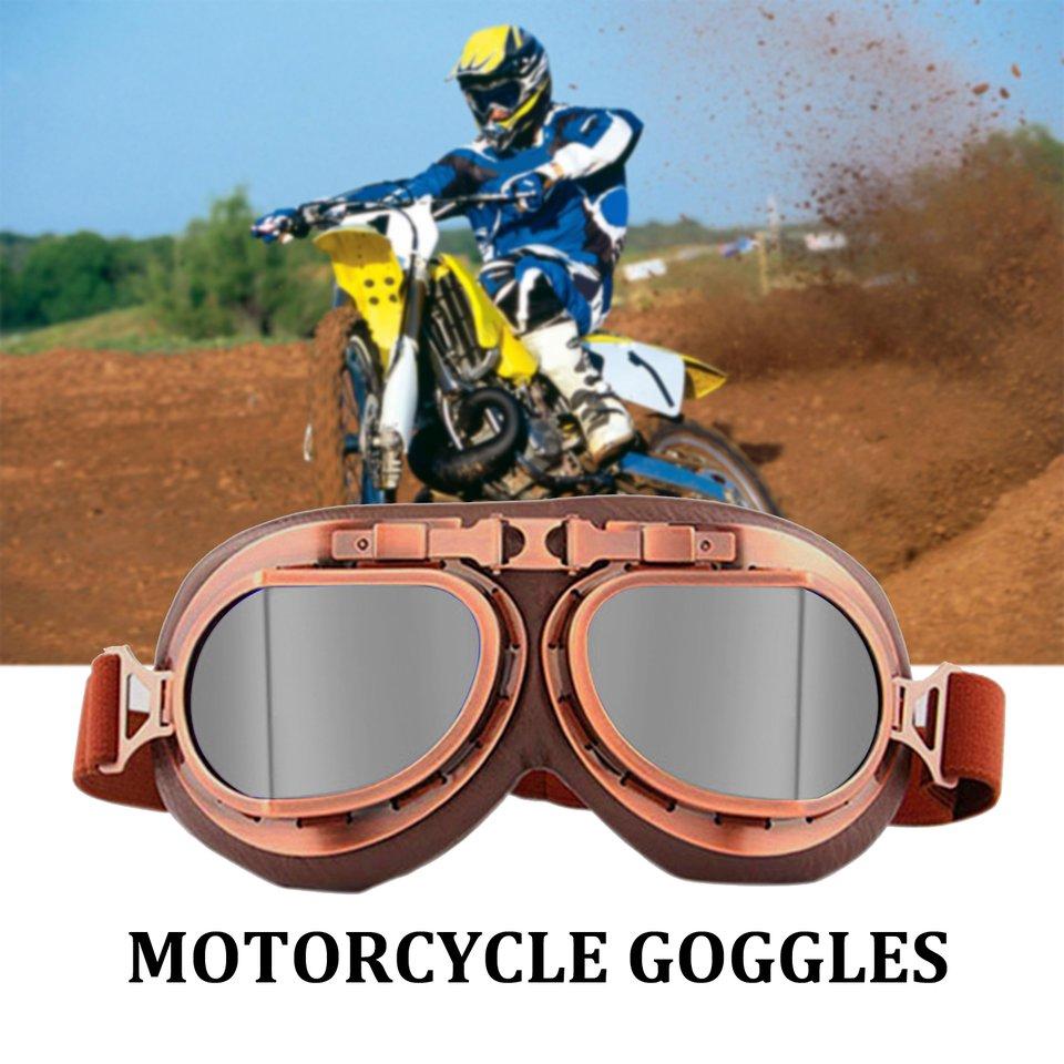 /624/Goggles Motorbike Retro Motorcycle Pilot  Helmet Glasses Eyewear