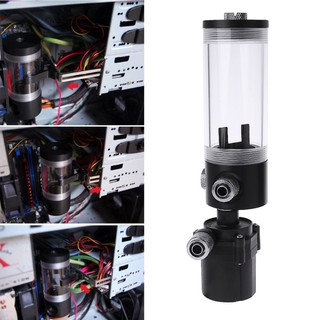 ★Line♣New 140mm Cylinder Water tank SC600 Pump Computer Water Cooling Radiator 600L/H