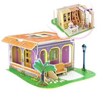 Đồ chơi trẻ em Mô hình bằng gỗ 3D Study room -HPMDV143 DochoiHCM Robotime