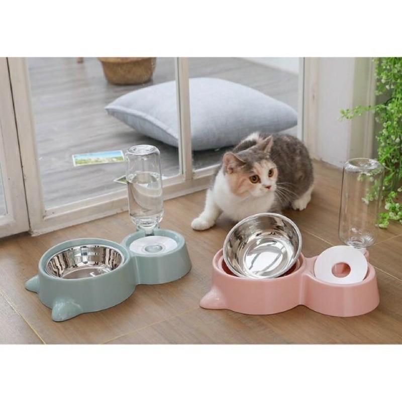 [Mã 267FMCGSALE giảm 8% đơn 500K] Bát ăn kèm bình chó mèo