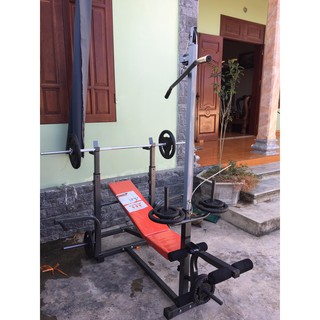 Combo giàn tạ đa năng Đại Việt ( kèm 50kg tạ đĩa gang )