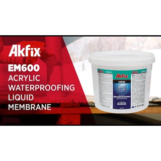 Akfix EM600 (5kg) – Màng Sơn Phủ Chống Thấm Cao Cấp Gốc Acrylic Kháng Tia UV (Nhập khẩu Thổ Nhĩ Kỳ)