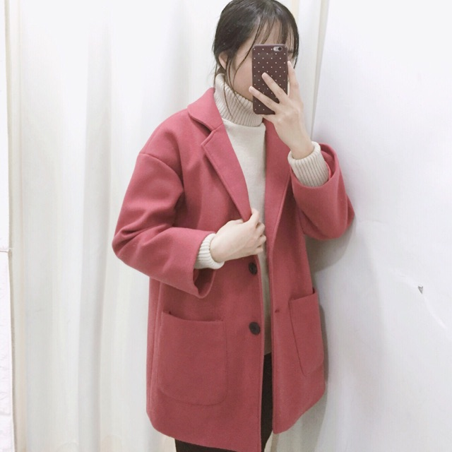 Áo dạ cổ vest 2 túi