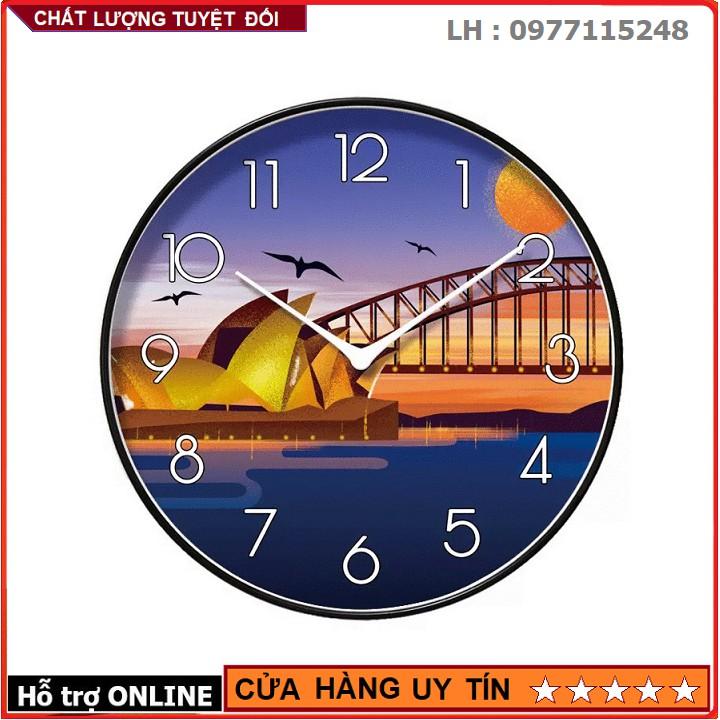 Đồng Hồ Treo Tường Kim Trôi Cao Cấp Nền Dải Ngân Hà