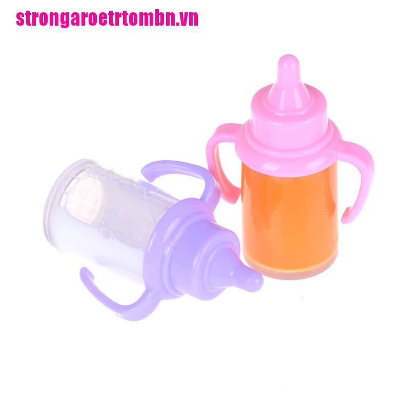 【Omvn】1pc Dummy Magic Milk Juice Bottle For Reborn Baby Doll Accessories Prete