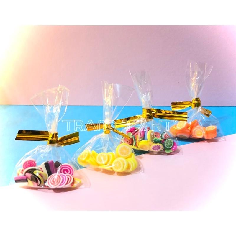 Mô hình túi mứt trái cây bánh kẹo phụ kiện trang trí nhà búp bê