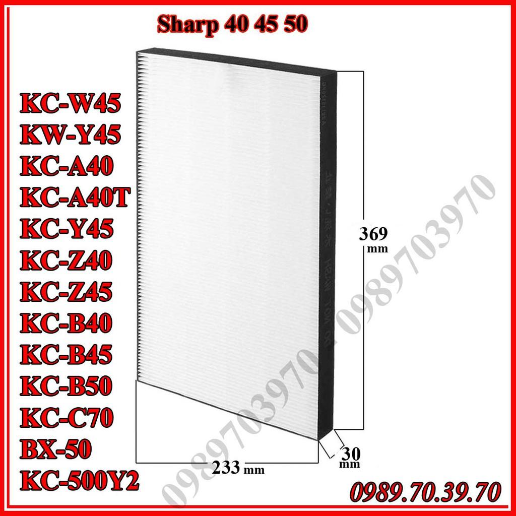 Màng lọc hepa cho Sharp kc-w45, kw-y45, kc-a40T, kc-y45, kc-z40, kc-z45, kc-B40, kc-b50, bx-50,kc-500y