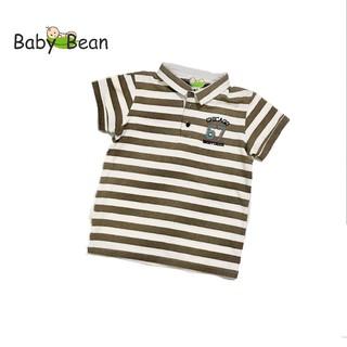 Áo Thun Cotton sọc Ngang tay ngắn bé trai BabyBean