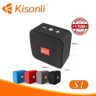 [Bảo hành 12 tháng] _  Loa Kisonli Bluetooth S1 _ Nhỏ, gọn, sắc màu cá tính ( màu ngẫu nhiên)