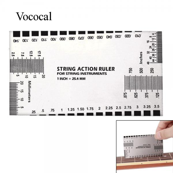 Electric Guitar Bass String Action Measurement Ruler Gauge Luthier Accessory