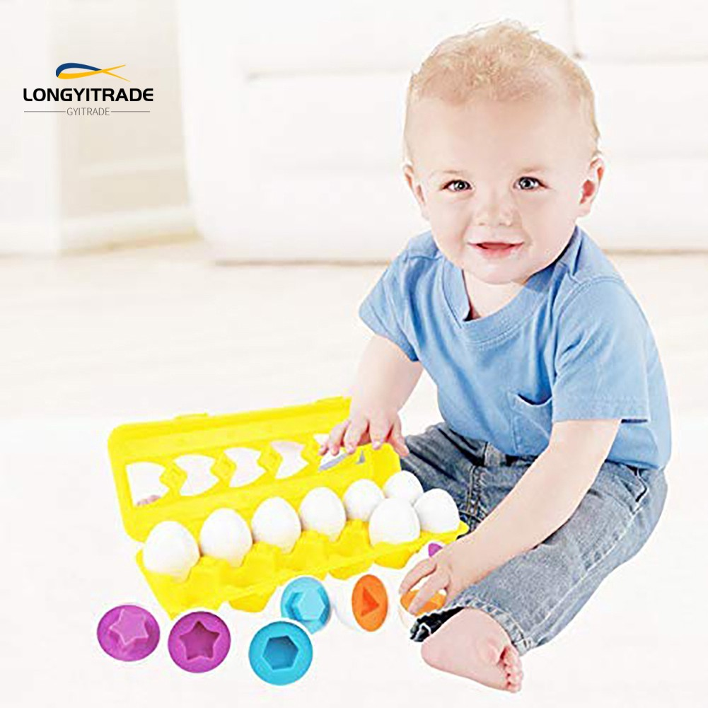 12Pcs Matching Simulate Shapes  Number Sorter Educational  Toy
