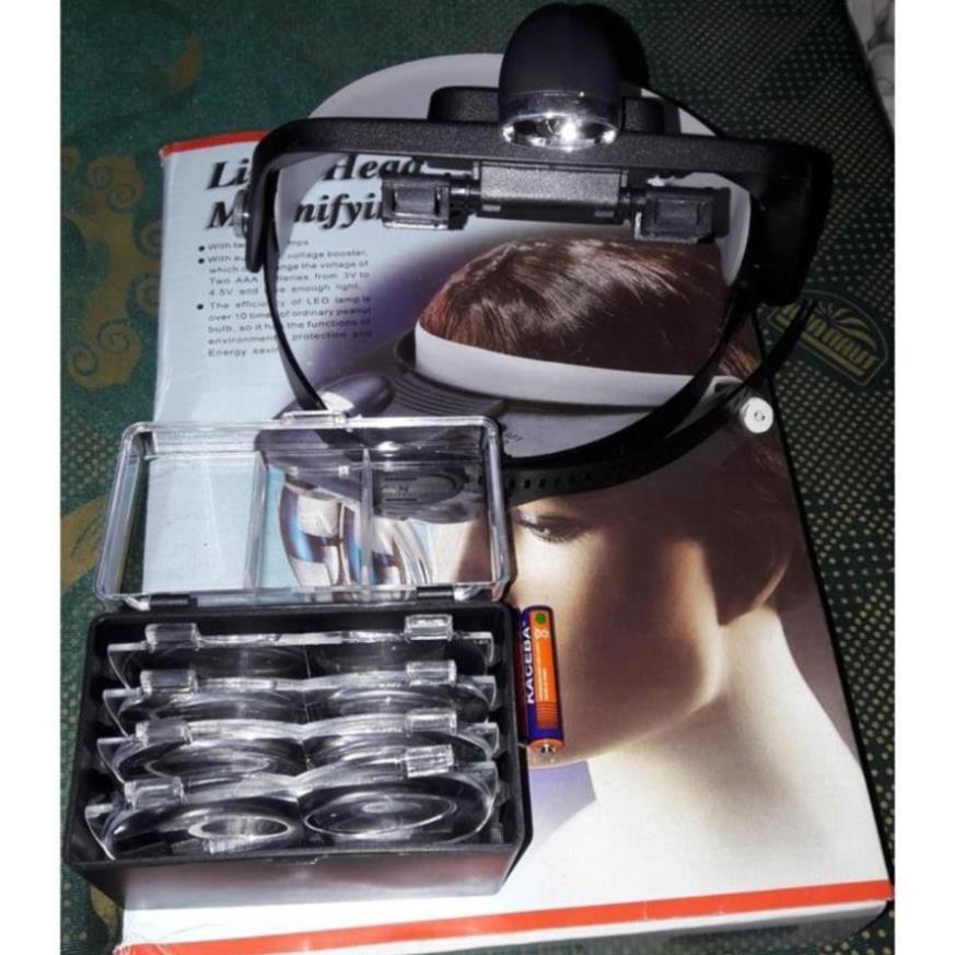 Kính lúp đội đầu có đèn, nhiều độ phóng đại