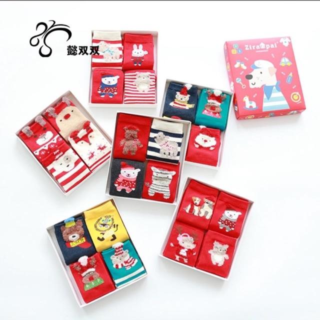 Combo 2 hộp tất Noel cho bé hàng cao cấp (4 đôi/hộp) - 2803197 , 757387465 , 322_757387465 , 199000 , Combo-2-hop-tat-Noel-cho-be-hang-cao-cap-4-doi-hop-322_757387465 , shopee.vn , Combo 2 hộp tất Noel cho bé hàng cao cấp (4 đôi/hộp)