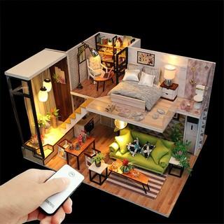 Bộ mô hình lắp ghép DIY Biệt Thự – Có Mica + Keo +Bộ phụ kiện 05 món