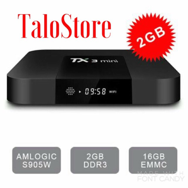 Android TV Box TX3 MINI, Ram 2GB, Rom16GB, Amlogic S905W, Android 7.1 - 3246050 , 1246811625 , 322_1246811625 , 1290000 , Android-TV-Box-TX3-MINI-Ram-2GB-Rom16GB-Amlogic-S905W-Android-7.1-322_1246811625 , shopee.vn , Android TV Box TX3 MINI, Ram 2GB, Rom16GB, Amlogic S905W, Android 7.1