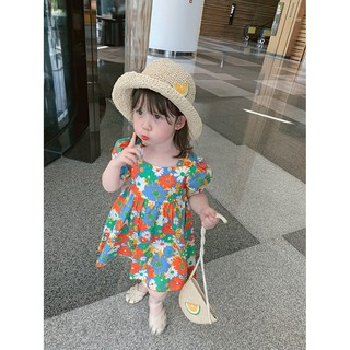 XẢ KHO THANH LÝ - Hàng Quảng Châu Váy Họa Tiết Hoa Cúc Cho Bé
