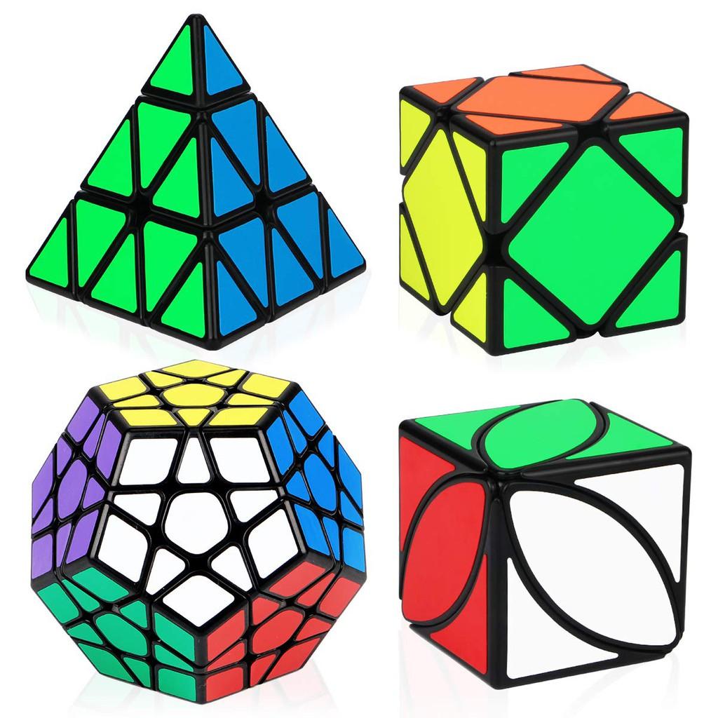 Combo 4 Rubik Biến Thể QiYi Gift Box Mastermorphix Pyraminx Megaminx Skewb Ivy cube