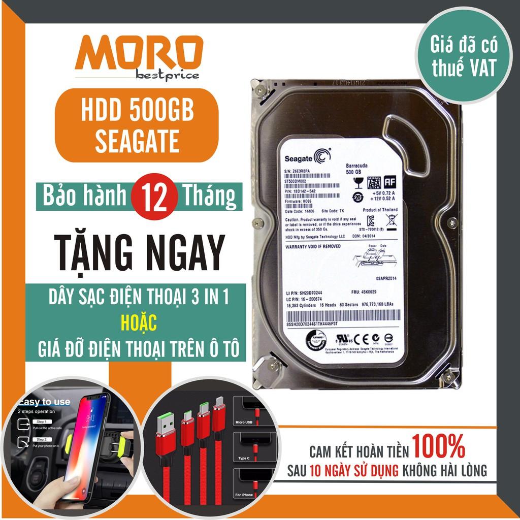 Ổ cứng HDD Seagate 500GB (Tháo máy đồng bộ - mới trên 90%) - Bảo hành 12 tháng 1 đổi 1