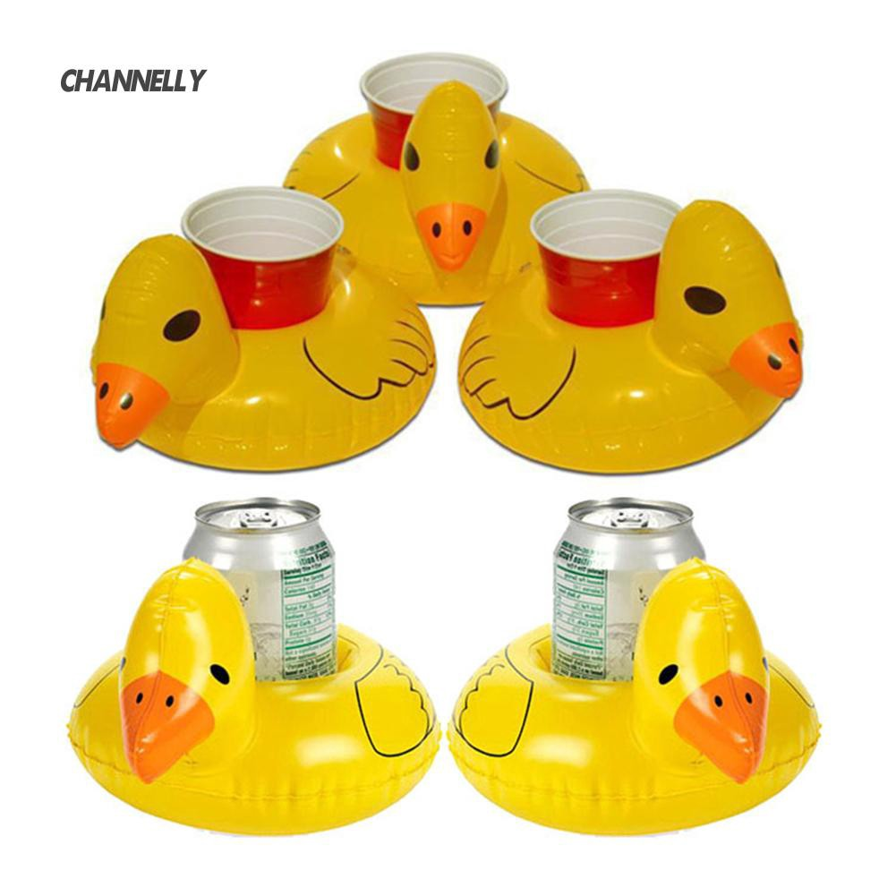 ■Cy Inflatable Floating Swimming Pool Bath Beach  Duck Drink Cup Can Holder