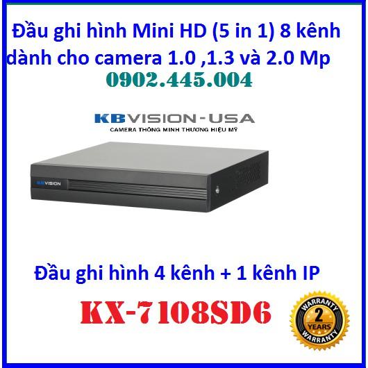 Đầu ghi hình 8 kênh 5 trong 1 KBVISION KX-A7108SD6