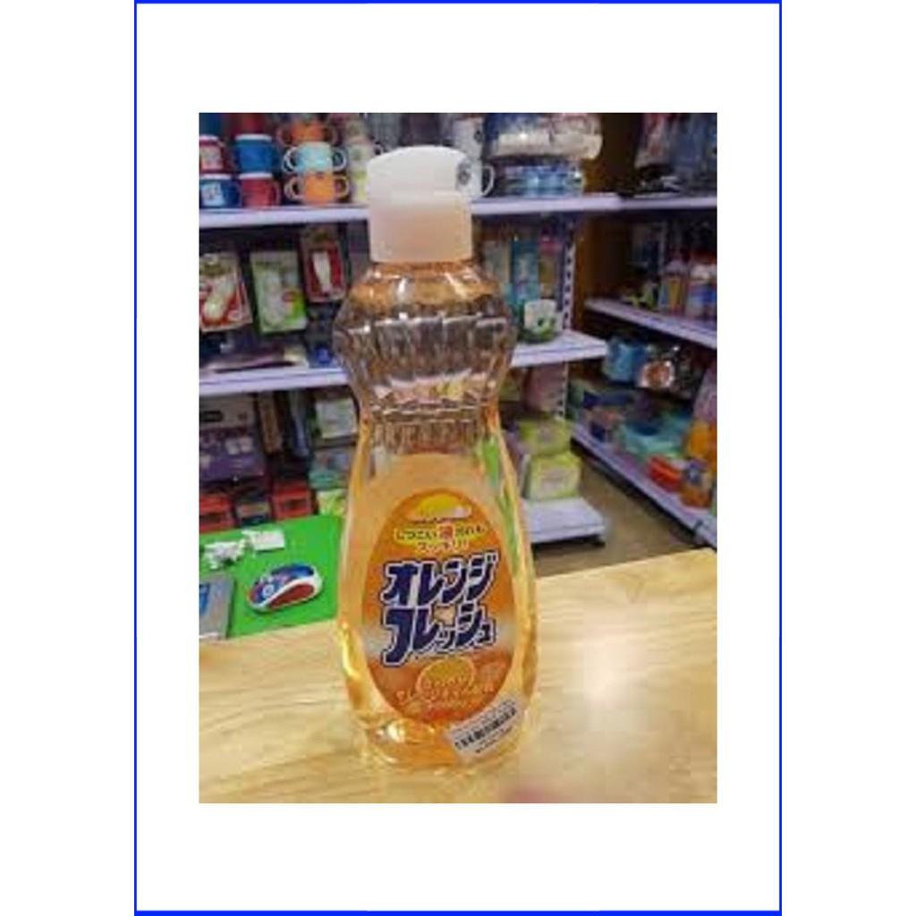 (Giá Rẻ)Chai nước rửa bát chén hương cam 600ml Rocket Chuyên dụng