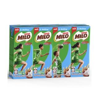 Thức Uống Lúa Mạch Uống Liền Nestlé MILO Ít Đường 4 hộp x 180ml