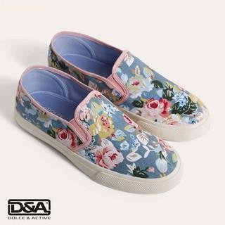 Giầy slipon nữ D&A L1607 Bò in hoa