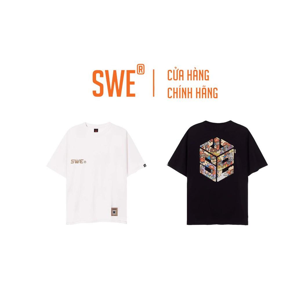 [Full Tag Hãng] Áo thun Swe Cube Mozzie tee local brand chính hãng logo unisex cổ tròn tay lỡ streetwear form rộng