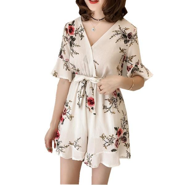 Bộ jumpsuit hoạ tiết hoa thời trang cho phái đẹp