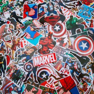 100 miếng sticker Marvel chống nước