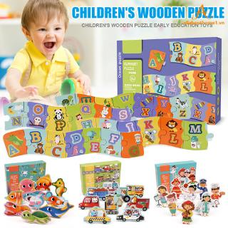 Wooden Kids Puzzle Game Children Learning Educational Jigsaw Puzzles for Boys Girls