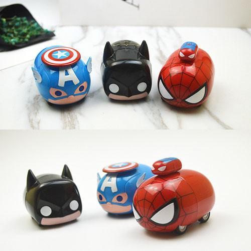 Mô hình xe Chibi dễ thương Captian Americal/ Batman/ Spiderman