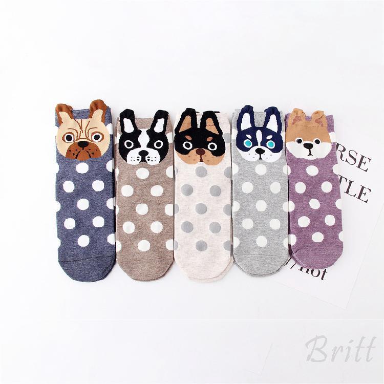 ใหม่สตรีถุงเท้าหูขนาดเล็กการ์ตูนชุดสัตว์น่ารักสุนัขแมวของขวัญคริสต์มาสใหม่ 113