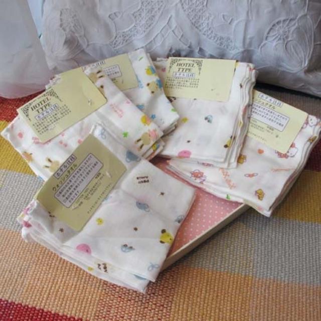 Ninikids: Set 4 khăn xô (30*30cm) cho bé từ sơ sinh