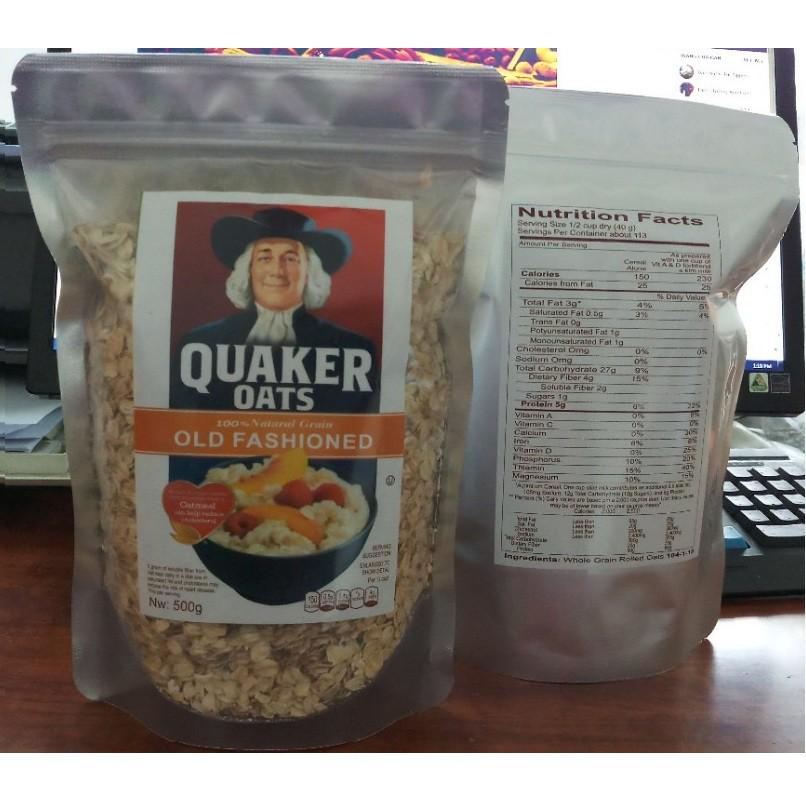 1kg Yến Mạch Quaker Oats NK từ Mỹ 100% Organic hạt to