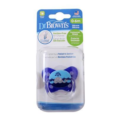 [Mã FMCG199 - 10% đơn 199K] Ty ngậm Dr Brown's đơn cá mập màu xanh và hồng (0-6m) -
