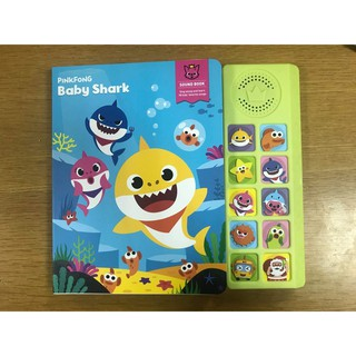 SALE Sách nhạc âm thanh chạy pin Baby Shark Sound Book tặng Sticker