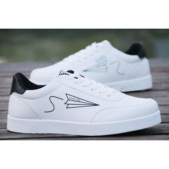 Giày  Nam thể thao cao cấp phong cách  trẻ trung  - Giàu Trắng-Gót Đen FREESHIP ĐƠN [99K]