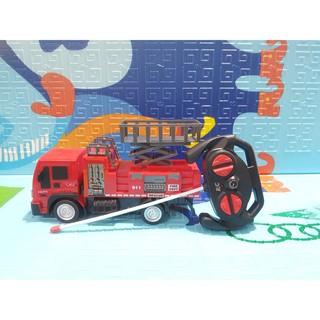 Ô tô cứu hoả điều khiển từ xa có đèn siêu hót, đồ chơi xe chữa cháy dùng điều khiển có đèn
