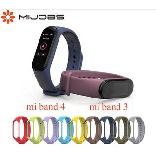 Dây đeo màu thay thế Miband 4 Mijobs - Dây đeo thay thế Mi band 4 Mi band 3 thumbnail