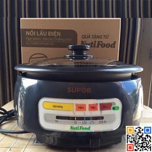 Nồi lẩu điện chống dính Supor 4 lít HFK26E-130 Nutifood - 3060879 , 1201338683 , 322_1201338683 , 330000 , Noi-lau-dien-chong-dinh-Supor-4-lit-HFK26E-130-Nutifood-322_1201338683 , shopee.vn , Nồi lẩu điện chống dính Supor 4 lít HFK26E-130 Nutifood