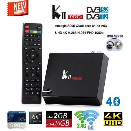 MECOOL KII PRO android box đa năng   Chíp S905   Ram 2gb ddr3   Rom 16gb   xem truyền hình DVB T2 +