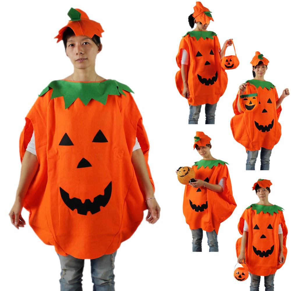 宸 Tao Halloween Ball Costume Adult Children's Clothing Pumpkin Styling Costume Pumpkin Dress Up Pumpkin Clothes Set hayb