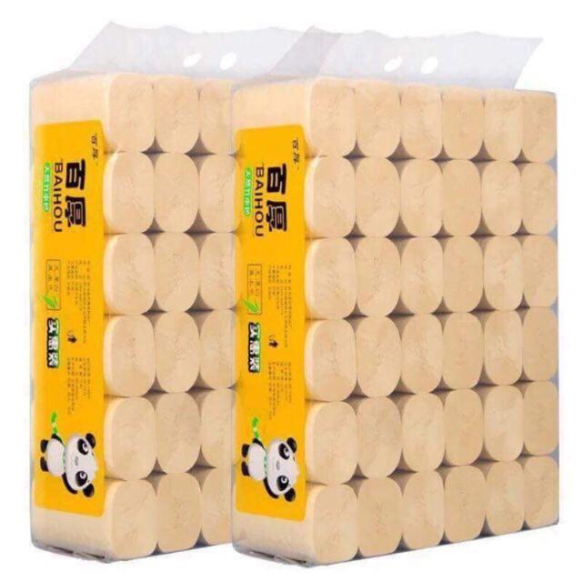 Giấy vệ sinh gấu trúc sipiao 36 cuộn không lõi siêu dai | Shopee Việt Nam