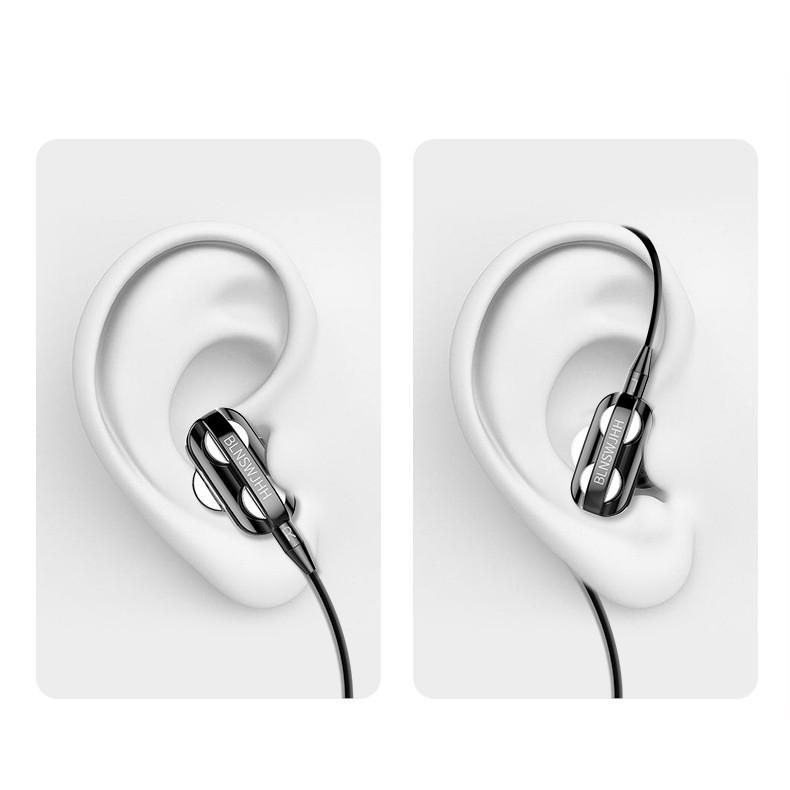 Tai nghe nhét tai cao cấp L7 có mic, dây siêu bền, khuyến mãi tặng hộp đựng + nút tai