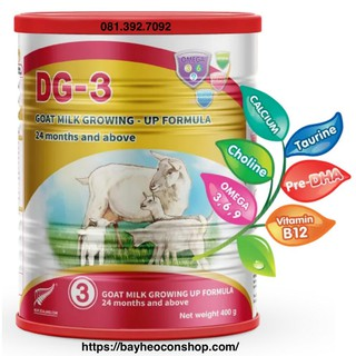 [Date 09 2021] Bộ 03 sản phẩm sữa dê công thức DG-3 400g thumbnail