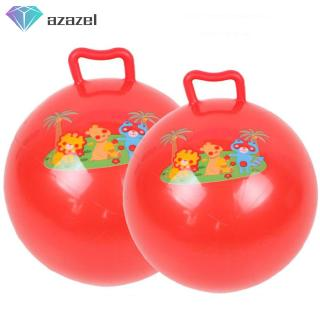 Handle Hopper Ball with Cartoon Pattern Bouncing Inflatable Toy for Kids